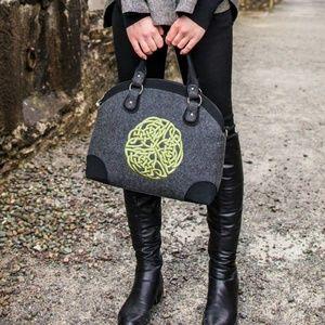 New Celtic Bowler Bag Purse Celtic Knot Gray Black